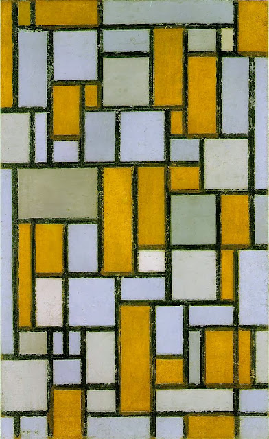 Piet Mondrian - Composition with Gray and Light Brown