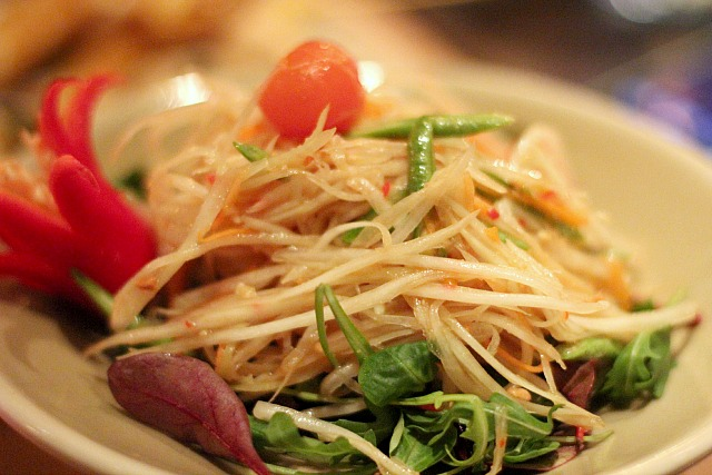 patara fine thai cuisine green papaya salad