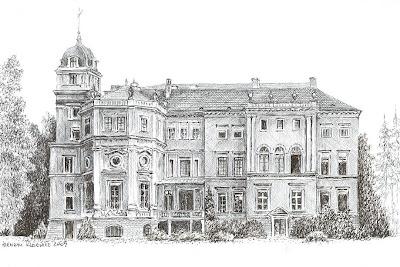 Zamek Dittersbach w Niemstowie – stan przed 1945 r.