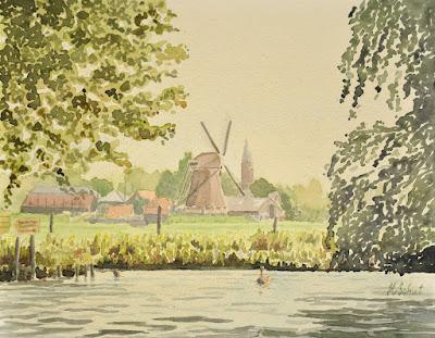 molen aan de Kaag http://www.watercolours.nl/
