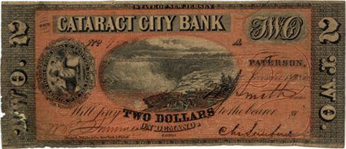 ABNC Proof Print 1856 $2.00 Cataract City Bank NJ