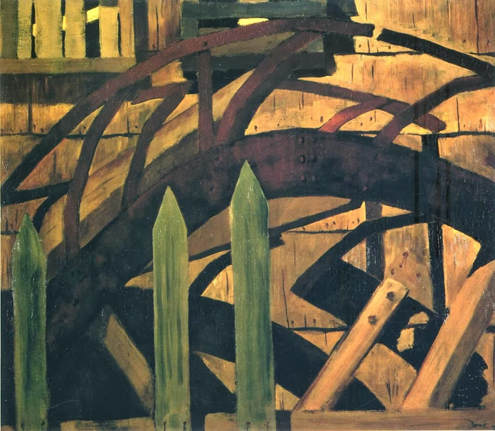 Arthur Dove - Fence And Bridge