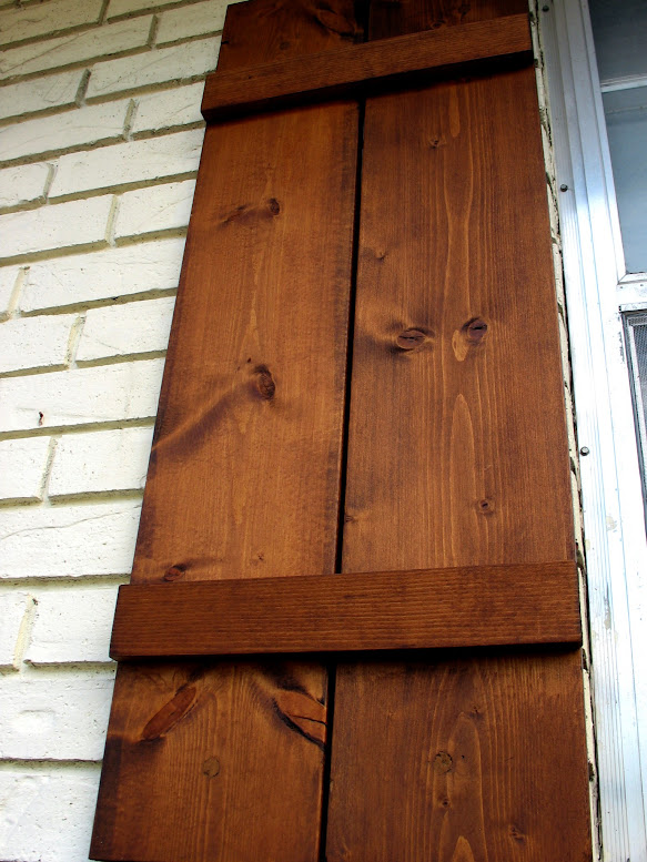 First time diy how to attach wooden shutters to brick - Pictures of exterior shutters on homes ...