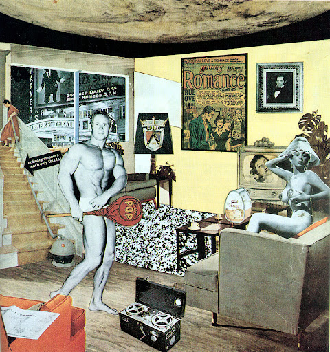 "Richard Hamilton: ""Just what is it that makes today's homes so different, so appealing?"" 26 x 25 cm, 1956"