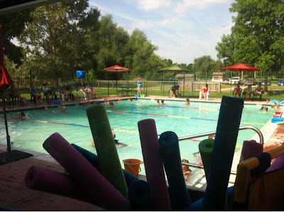 swimming pool at Mountain Kids in Fort Collins, Colorado www.thebrighterwriter.blogspot.com