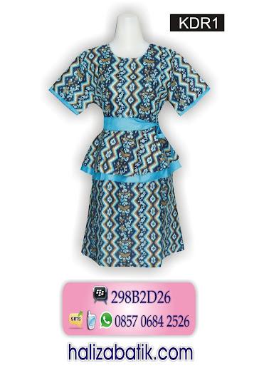 model dress batik, dress batik modern, baju dress batik