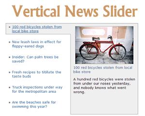 jQuery Vertical News Slider - Slider hiển thị tin tức