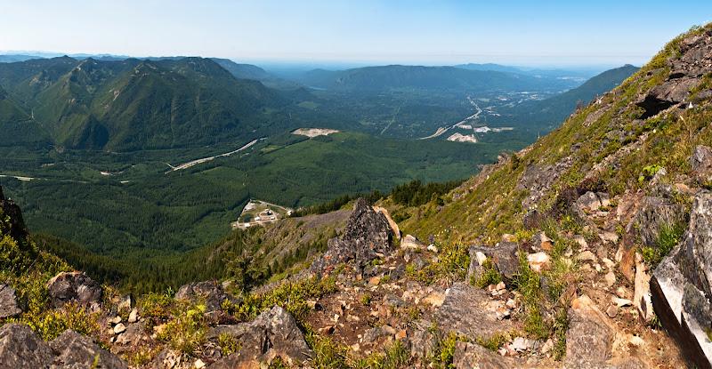 Mailbox Peak, cz. III. -- panoramki ze szczytu..
