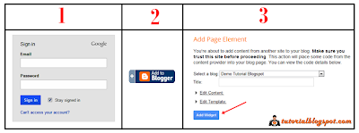 Add Page Element,add widget,add to blogger
