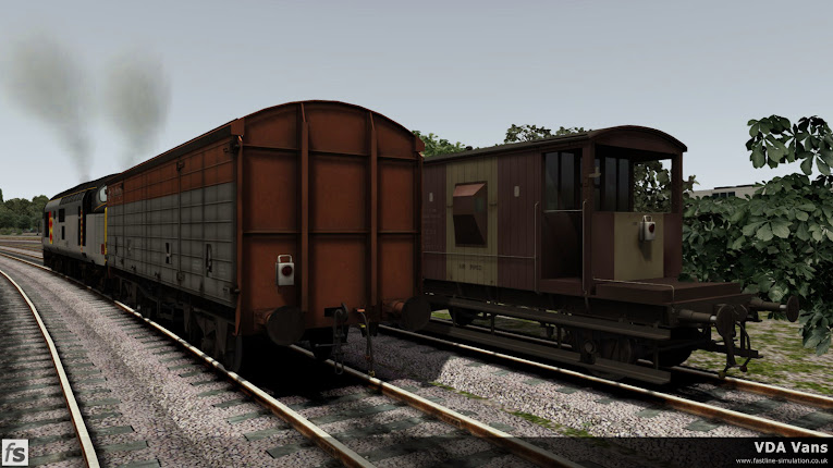 Fastline Simulation - VDA Vans: VDA van and CAR brake van with battery tail lamp