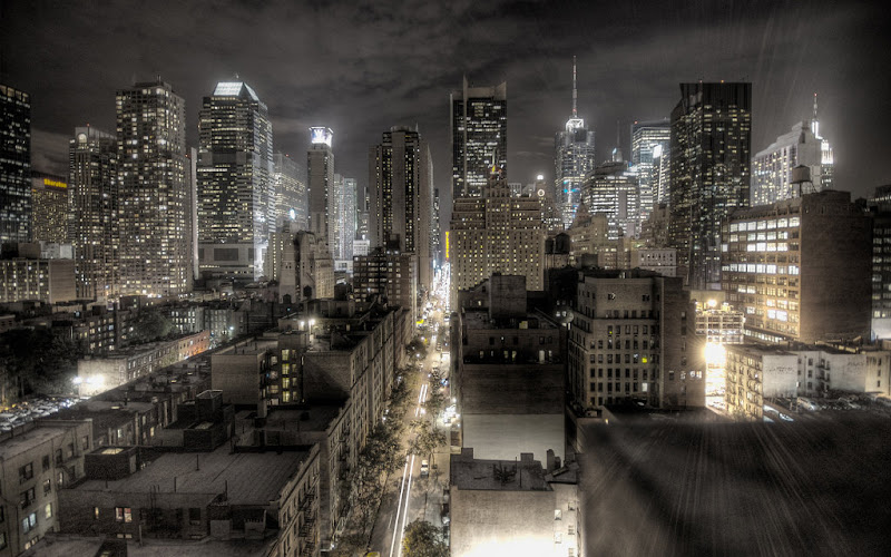 New york City Night by Paolo Barcellos Jnr.