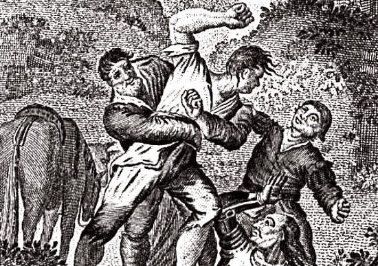 Cardenio ataca a los cabreros
