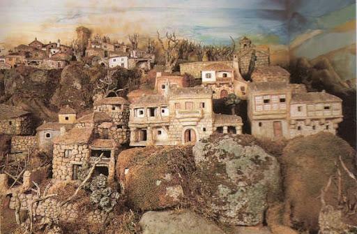Belen de Baltar: vista de las casas de la parte superior del pueblo