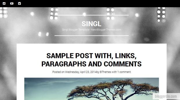 Singl Blogger template