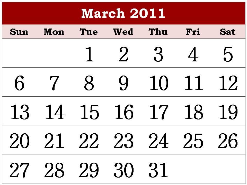 calendar of 2011. Free Printable Calendar 2011