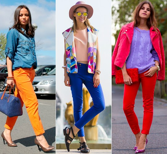 calça jeans colorida