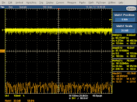 Low frequency oscilloscope trace from HP TouchPad charger