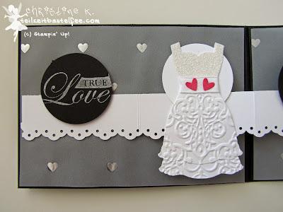 stampin up, follow your heart, wedding, hochzeit, punch art bride, dress up, kleiderduo