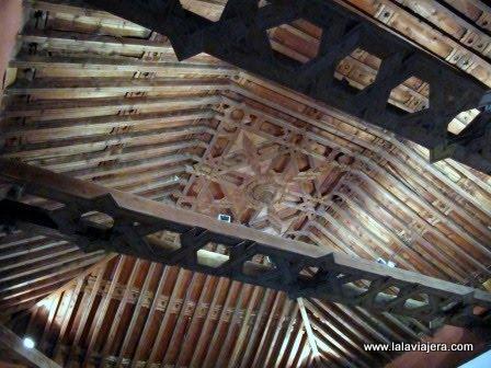 Artesonado mudéjar de la Ermita de los Remedios, en Ayna