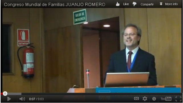 Congreso Mundial de Familias. Intervención de Juanjo Romero. En Argentinos Alerta