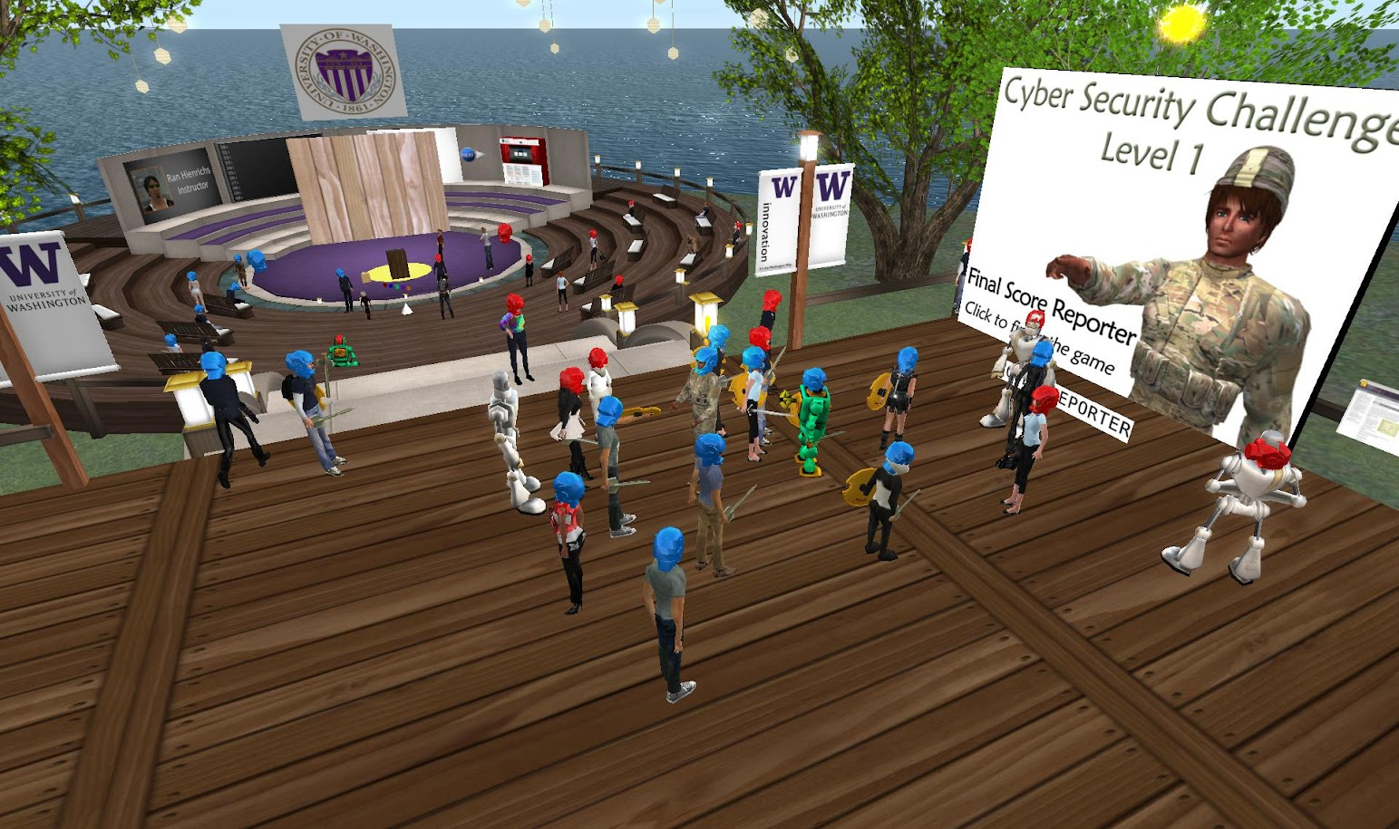 cybersecurity second life game gamification virtual worlds