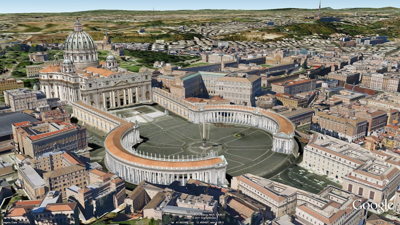 Google Lat Long Explore The Ancient And Modern With Rome In D - Why no google maps 3d for us capitol