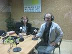 Fotos de Isabel Oliver y Celestino Álvarez-Cienfuegos en Radio Escavia. 2011