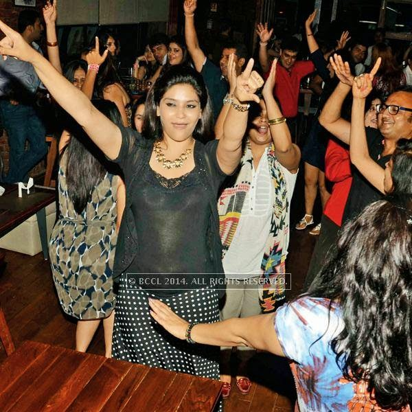 The crowd enjoys during a Sufi night, held at Sutra Gastropub, in Gurgaon.
