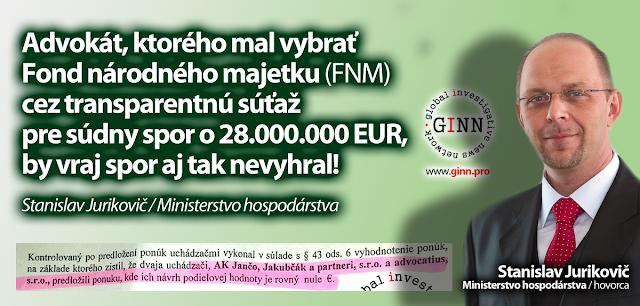 Advokát by spor FNM nevyhral. Stanislav Jurikovic