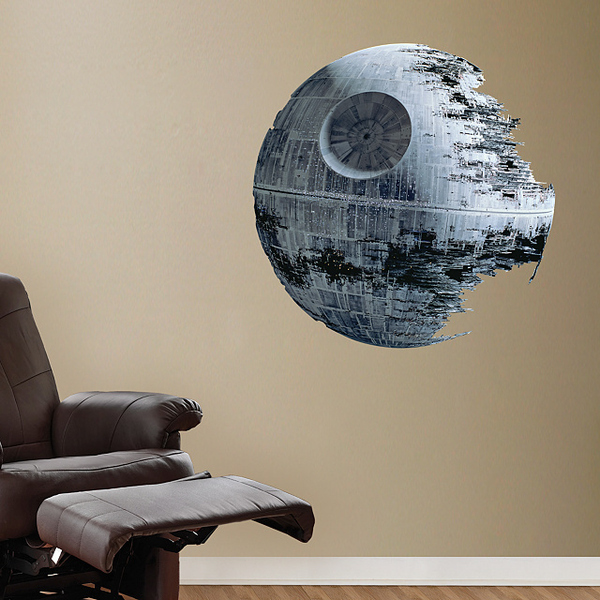 4u00272u201dW X 4u00272u201dH Death Star Vinyl Wall Decal.
