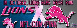 Detroit Lions Breast Cancer Awareness Facebook Cover Photo