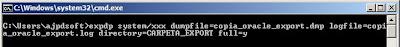 Ejemplos de copia de seguridad lógica en línea con expdp export en Oracle 11g