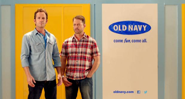 More 90210 Old Navy Ads with Luke Perry Jennie Garth and Priestly