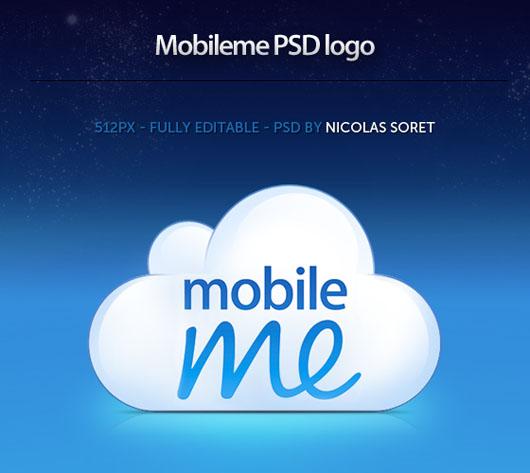 MobileMe download logo psd