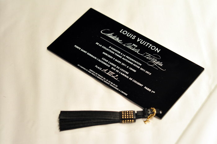 Gucci Fashion Show Invitation