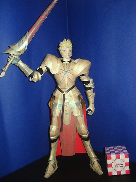 Fate Stay Night Gilgamesh Papercraft