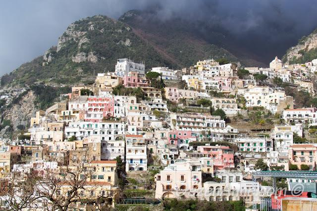 Positano manzarası, Güney İtalya
