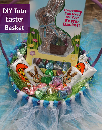 DIY Tutu Easter Basket and HERSHEY'S Goodies #BunnyTrail