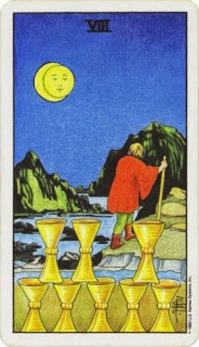 Tarot 8 Of Cups Walk Away