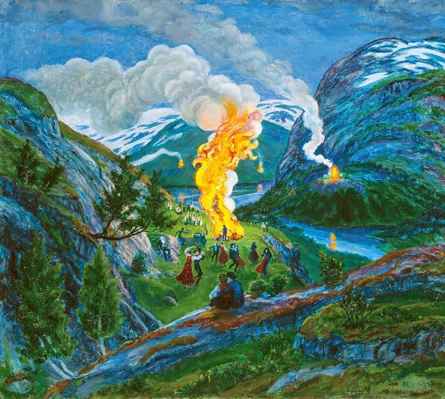 Nikolai Astrup - Midsummer Eve Bonfire