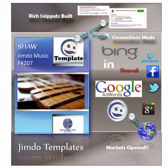 Jimdo Small Business Template : Theme F4027Shaw