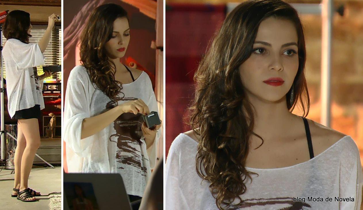 moda da novela Em Família - look da Marina dia 30 de abril