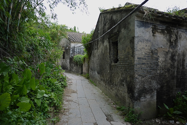 stone lane and older building in Beishan Village, Zhuhai, China
