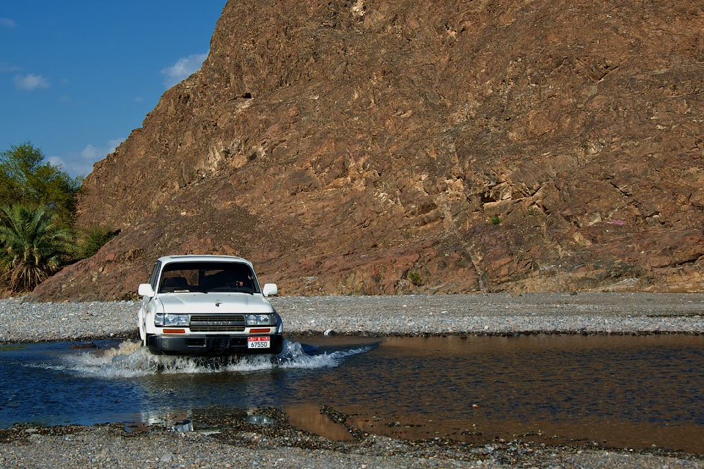 Wadi Al Abyad, Oman, with Toyota Land Cruiser