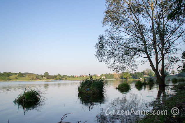 Sakarya Poyrazlar Gölü, gün batımına doğru