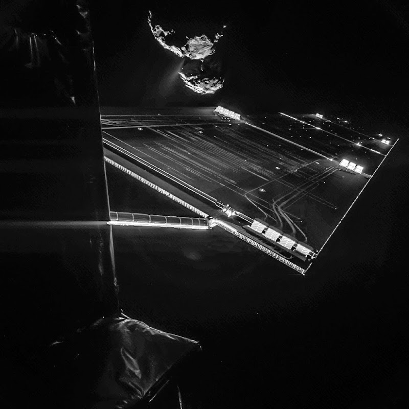 Photos of the comet 67P/Churyumov–Gerasimenko by the Rosetta spacecraft