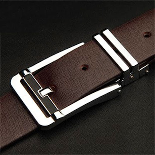 Fashion Leather Metal Mens Belt 100% Cowskin Mens Belt