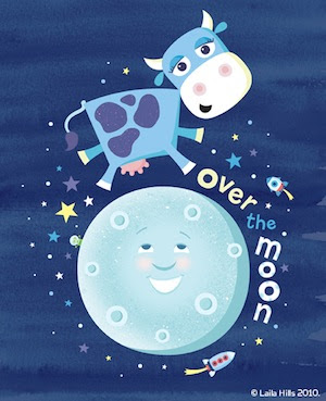 To be over the moon Over-the-moon