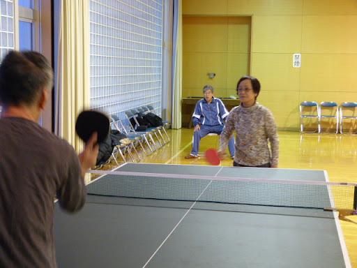 今年、始めての卓球をしました