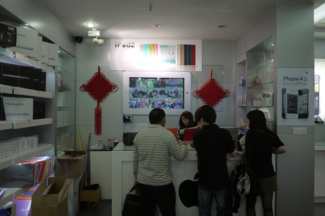 checkout counter of store in Zhuhai selling Apple products